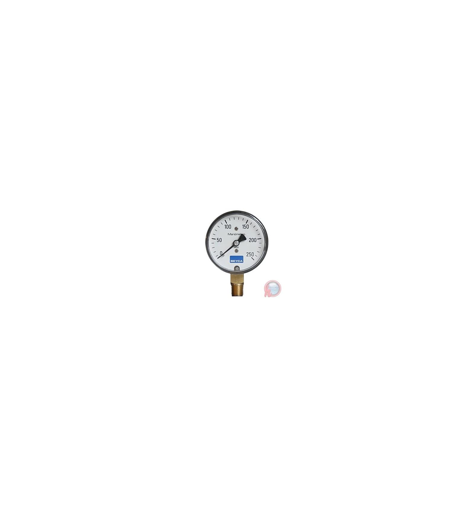 Manometro baja presion aplicaci n gas 63 mm 60 mbar beyca for Manometro para medir presion de agua