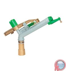 "Aspersor Metálico circular (boquillas 12-14-16 mm)  ROSSI R25 -  Rosca:RH 1 1/2"""
