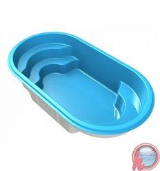 Mini piscina de fibra de vidrio DB360 linea doble banco MOLDEAR