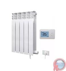 Radiador electrico E-RADIATOR 5 elementos 750w con termostato inalambrico