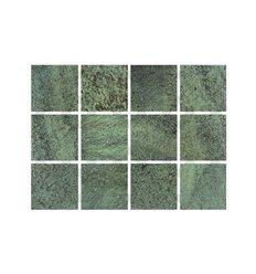 Revestimiento cerámico premium 10 x 10 cm en malla - Palau VULCANO