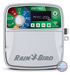 Programador de riego ESP-TM2 de 6 estaciones outdoor apto Wifi RAIN BIRD