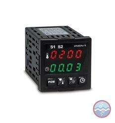 Controlador de Temperatura y temporizador INV-5822/J para termocupla J - INOVA