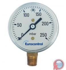 """MANOMETRO BAJA PRESION – APLICACIÓN GAS – 63 mm 40 MBAR 1 1/4"""" EUROCONTROL"""