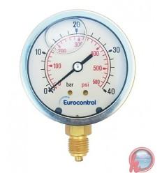 Manometro a Bourdon en glicerina – 100 mm 10 Bar  EUROCONTROL