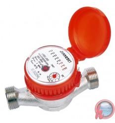 "Caudalimetro medidor de agua fria o caliente 3/4"" 3 m3/h 90°c LXSCR-13D"