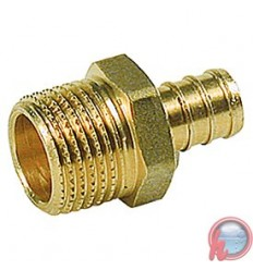 "Racor recto Rosca macho 1/2""x3/4"" Giacomini"
