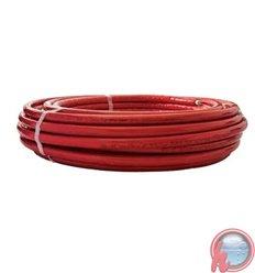 Tubo multicapa PEX / AL / PEX B 16 x 2.0 Aislamiento ROJO 6 mm APE